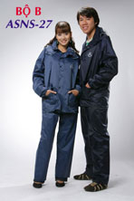 Full rain-coat set, jacket and pants