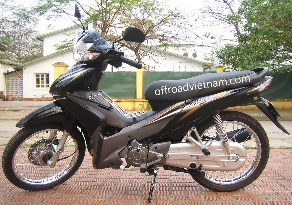 Honda Wave 110S, 110cc Black - Brown, Disc brake