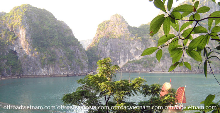 Cruising Halong Bay, a Vietnam's World Heritage Site. From Offroad Vietnam.