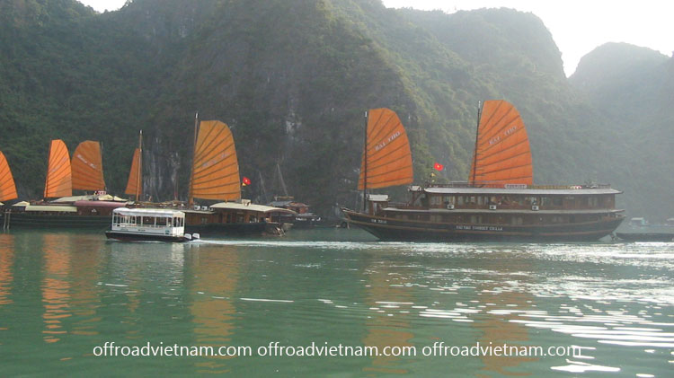 Boat cruise in Halong Bay with group tours
