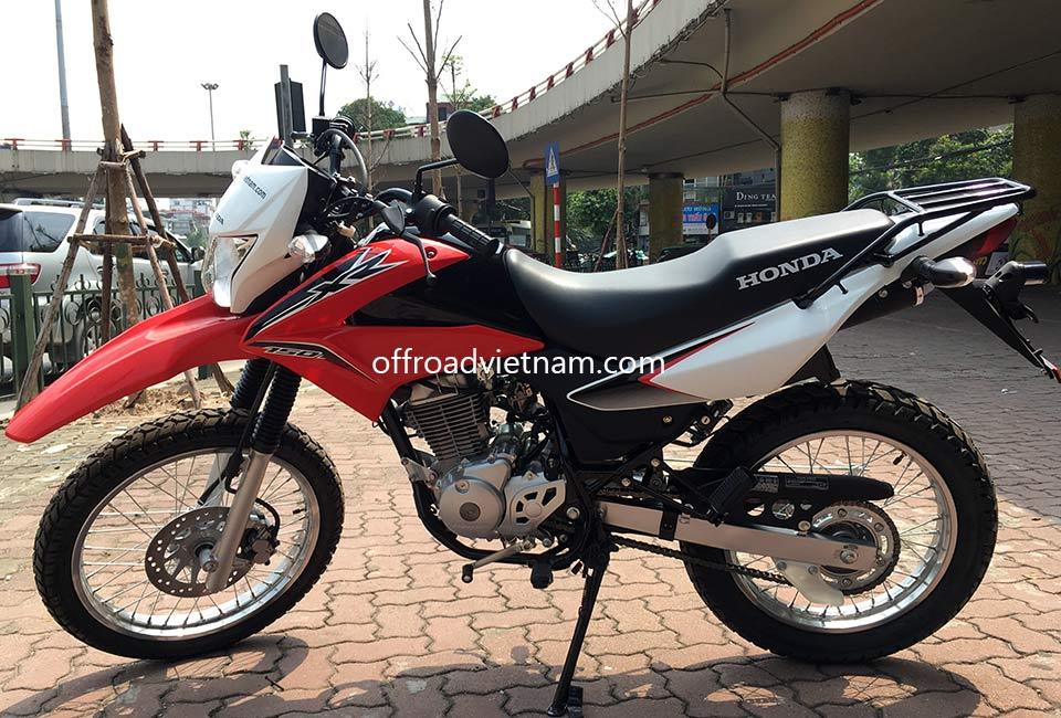 Offroad Vietnam Dirt Bike Rental - Honda XR150 150cc In Hanoi. 2016 Honda dirt (trail) bike Honda XR150 150cc Red & White, front disc brake, back drum brake