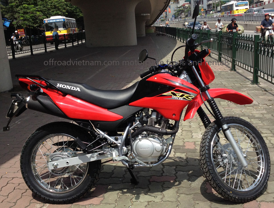 honda xr125 125cc hire in hanoi offroad vietnam dirt. Black Bedroom Furniture Sets. Home Design Ideas