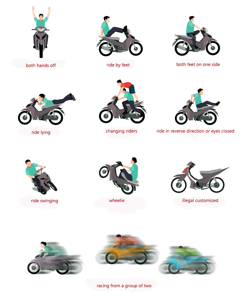 From August 1st, you will have your bike taken (impounded or confiscated) by traffic cops if you break these rules.