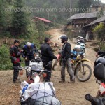 A stop at a local village on a Vietnam motorbike tour