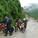 Vietnam dirt bike tour in rainy season
