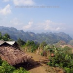 A remote village of hill tribe people in North Vietnam