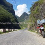 Vietnam motorbike tours, Vietnam motorcycle tours. Snake way in Ha Giang, heading up the Heaven gate.